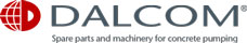 Dalcom | Spare parts and machinery for concrete pumping Logo